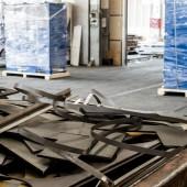 Junk metal sheets — Stock Photo