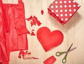 Preparation for Valentine's Day — Stock Photo