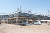 Construction of oil pumping station — Stock Photo
