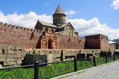 Wall of the Svetitskhoveli Cathedral, a Georgian Orthodox cathed — Stock Photo