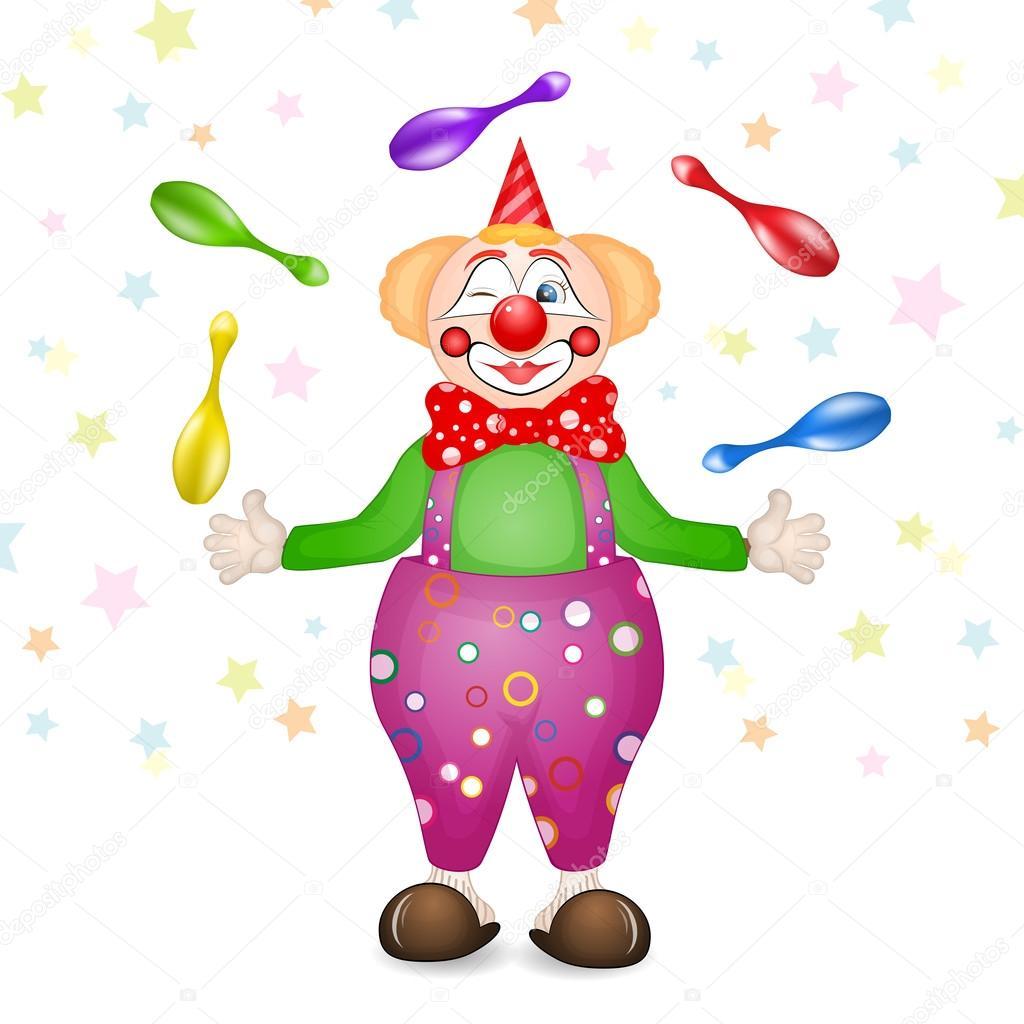 Открытка клоуну к дню рождения 751