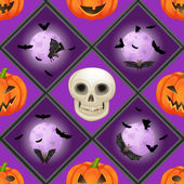 Seamless pattern di halloween — Vettoriale Stock