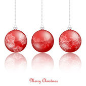 Red Christmas ornaments — Stock Vector