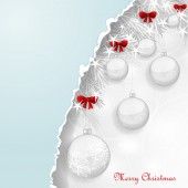 Background with Christmas balls — Stock Vector