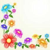七彩花朵 — 图库矢量图片