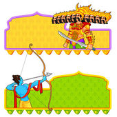 Rama killing Ravana in Dussehra — Stock Vector