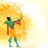 Senhor rama com arco e flecha — Vetorial Stock