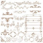 Floral calligraphic design — Stock Vector