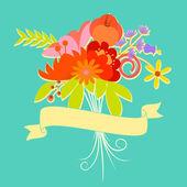 Kwiatowy wzór karty — Wektor stockowy
