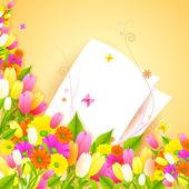 Floral vintage card — ストックベクタ