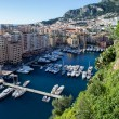 View of monaco port in Fontvielle from the village, daytime — Stock Photo #61759497