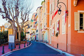 Street in Monaco Village in Monaco Monte Carlo — Stock Photo