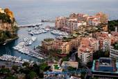 Port de Fontveille panorama. Monte Carlo.  — Stock Photo