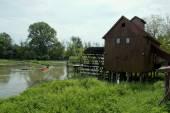Wooden Tread Mill — Zdjęcie stockowe