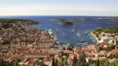 Panorama of Coatsal City Hvar in Croatia — Stock Photo