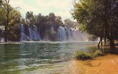 Waterfall in Krawitze-Bosnia and Hercegovina — Stockfoto