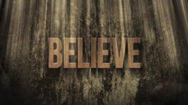 Word Believe in Light Rays — Vidéo