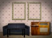 Interior Room with Picture Frames — Foto de Stock