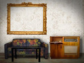 Interior Room with Picture Frames — Stock Photo