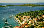 View of Coastal Historical City — Stock Photo