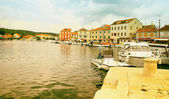 Old Historical City with Harbour — Stock Photo