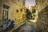 Old Historical Street with Moped — Stock Photo