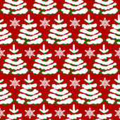 Christmas pattern with trees — Stock Vector