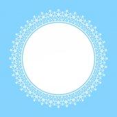 White frame of snowflakes — Stock Vector