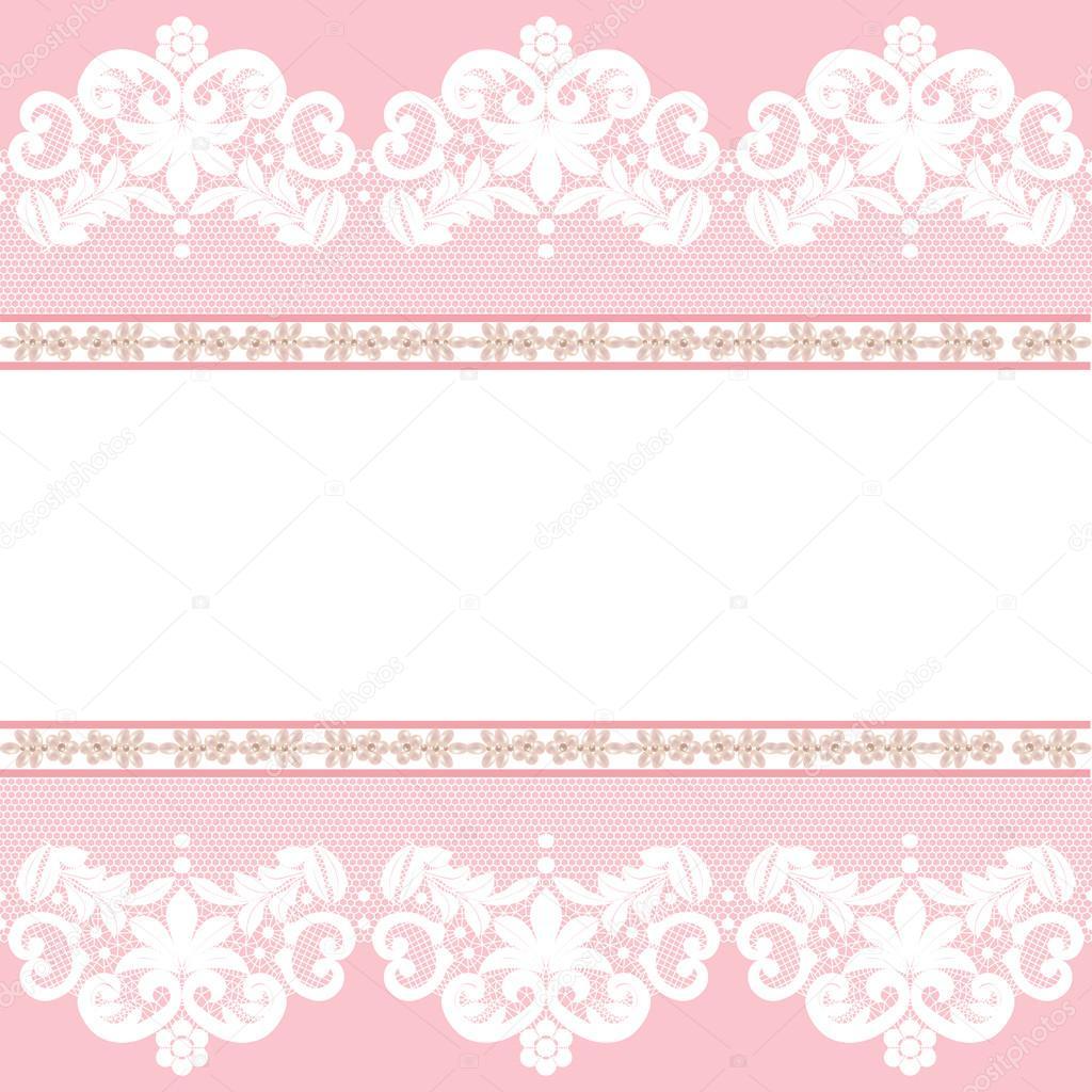 白色花边边框 — 图库矢量图像08