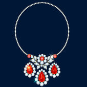 Collana di diamanti — Vettoriale Stock