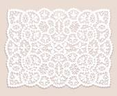 Lace doily — Stock Vector