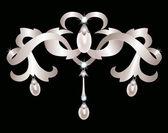 Stříbrné šperky — Stock vektor