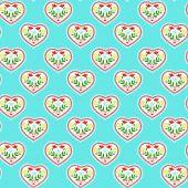 Patroon met hart — Stockvector