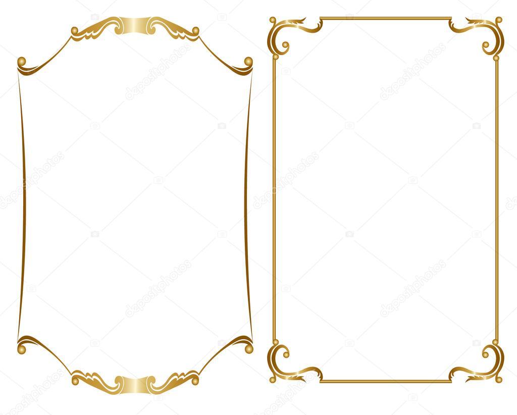 Dos Marco Dorado Archivo Im 225 Genes Vectoriales 87188628