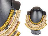 Beautiful stylish handmade female vintage fashion colorful jewel — Foto de Stock