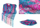 Invisible mannequin model wearing colourful neckwear or scarf — ストック写真
