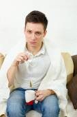 Depressed young adult man — Stock Photo