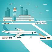 Vector airport concept — Stock Vector