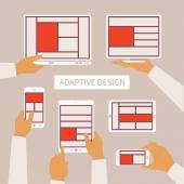 Vector concept of modern adaptive responsive web and application design — Stockvektor