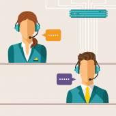 Vector call center concept — Stock Vector
