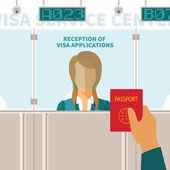 Vector concept of visa service center — Stock Vector