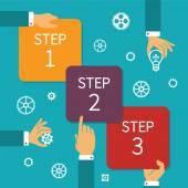 Vektor-steg för steg tidslinjen infographic system — Stockvektor