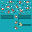 Anti spam filter vector concept in flat style — Stock Vector #62054571