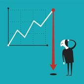 Business activity decline vector concept in flat cartoon style — Stock Vector