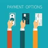 Vector concept of payment options in flat style — Vector de stock