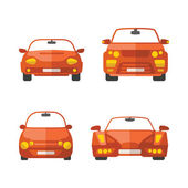 Set of different vector passenger cars in flat style — Stockvector