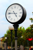 Vintage station clock — Stock Photo