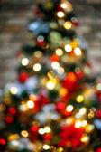 Beautiful boke glowing Christmas tree — Stock Photo