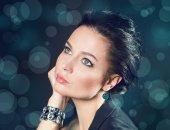Portrait of a girl. Blinking Background. Bokeh — Stock Photo
