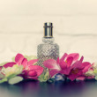 Gift a bottle of perfume on Valentine's Day — Stock Photo #65400847